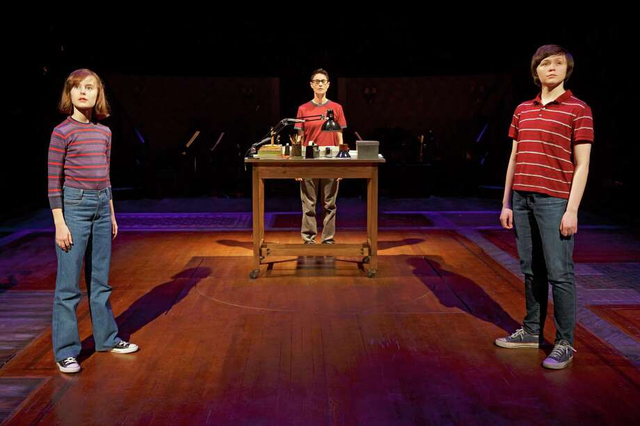 """Sydney Lucas, Beth Malone and Emily Skeggs in """"Fun Home,"""" which deserves to win the  best musical Tony. Illustrates STAGE-TONYS (category e), by Peter Marks 2015, The Washington Post. Moved Friday, May 29, 2015. (MUST CREDIT: Joan Marcus.) Photo: HANDOUT, STR / THE WASHINGTON POST"""