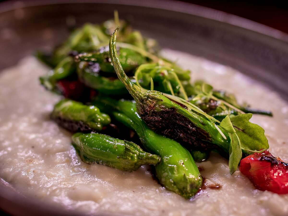 The charred Shishito & Padron Peppers at Dirty Water in San Francisco, Calif., are seen on August 20th, 2015.