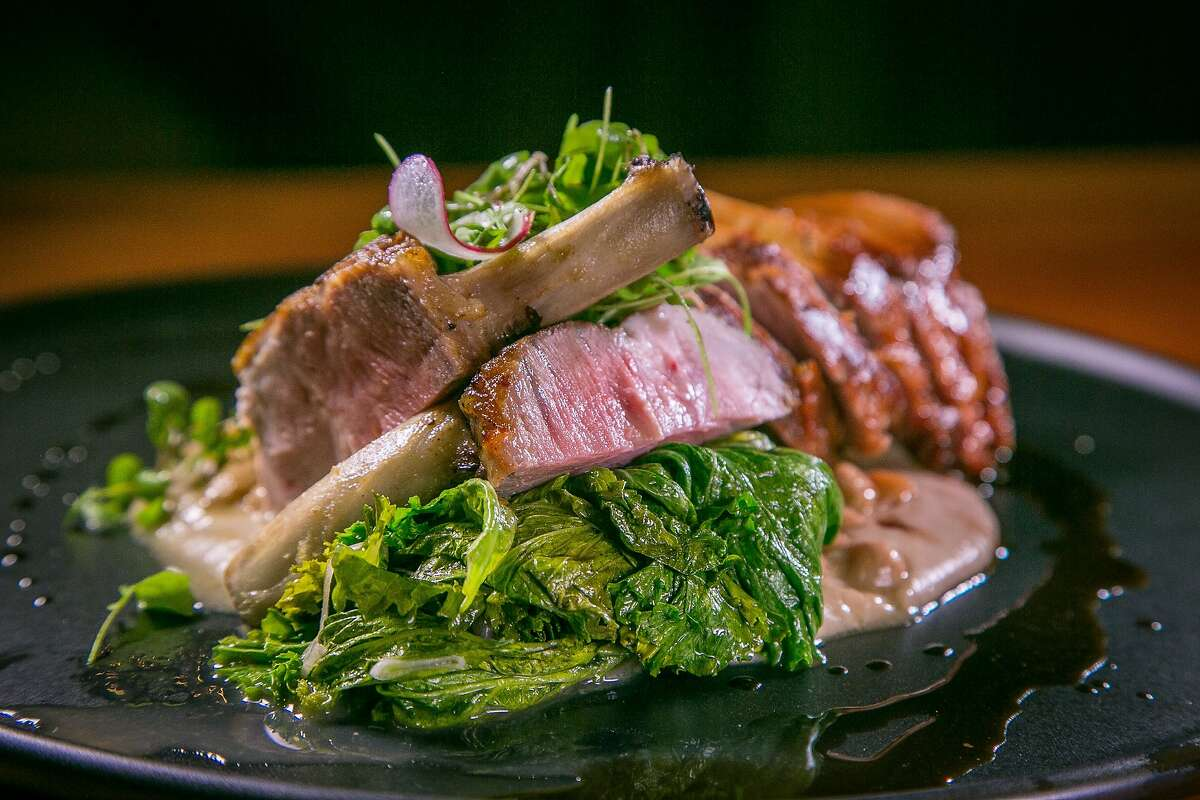 The roasted Pork Chop at Dirty Water in San Francisco, Calif., is seen on August 20th, 2015.