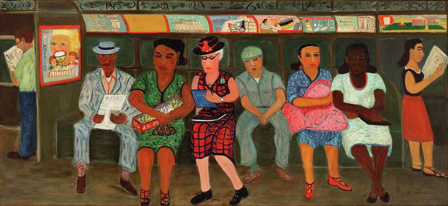 "Ralph Fasanella's ""Subway Riders"" will be among the works at the Amon Carter Museum of American Art in the show ""Self-Taught Genius,"" opening in October. Photo: American Folk Art Museum"