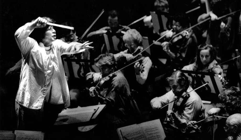 San Francisco Symphony conducted by Seiji Ozawa during rehearsals  at Davies Hall  09/05/1988, P. 52 Photo: Tom Levy / The Chronicle / ONLINE_YES