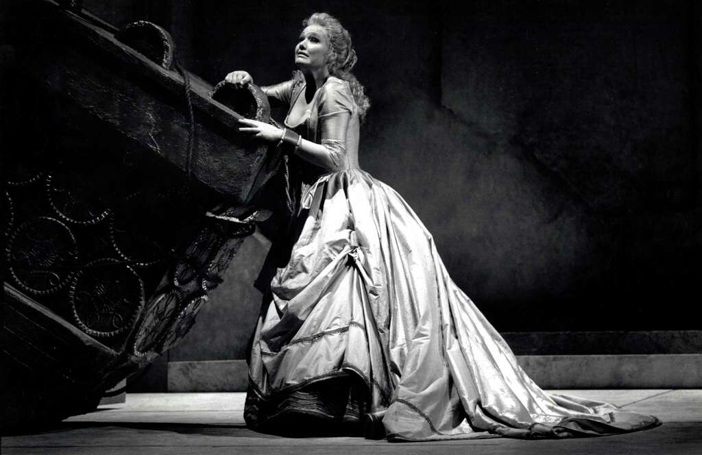 Oct. 5, 1989: Karita Mattila in a dress rehearsal for the opera Idomeneo