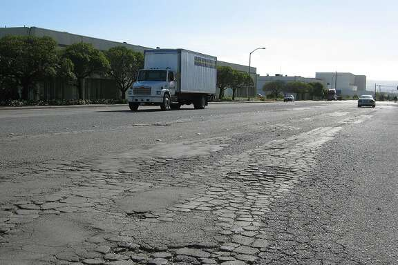 ChronicleWatch: Bad road conditions, potholes and vanished stripping on East Grand Avenue.  June 2006 Ran on: 06-24-2006  Ran on: 11-16-2006