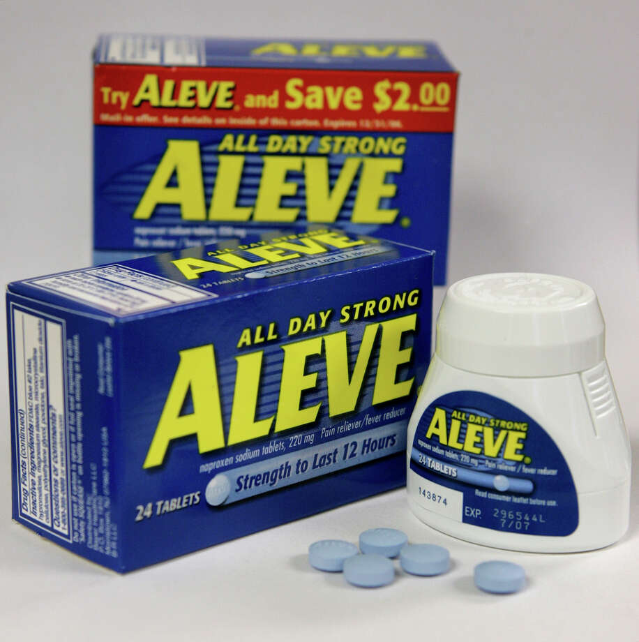 According to a new study in the U.K., common anti-inflammatories such as Aleve (generic name naproxen) may make women stop ovulating after taking standard doses for as little as 10 days. Photo: STEVEN SENNE, STF / AP