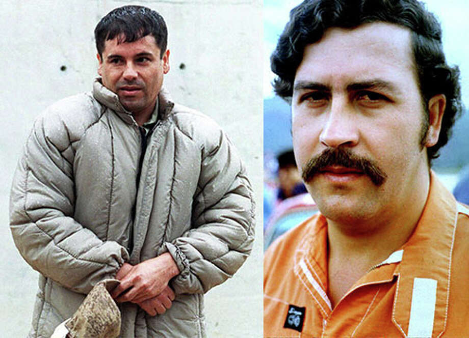 Drug lordsPeople often compare Joaquin 'El Chapo' Guzman with the Pablo Escobar. Both were feared drug bosses who also changed the narco trafficking game forever. 