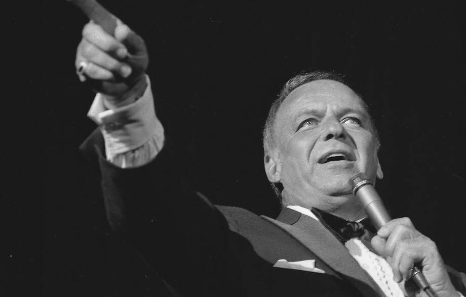 Frank Sinatra at the Civic Auditorium in 1975. Photo: Gary Fong, The Chronicle