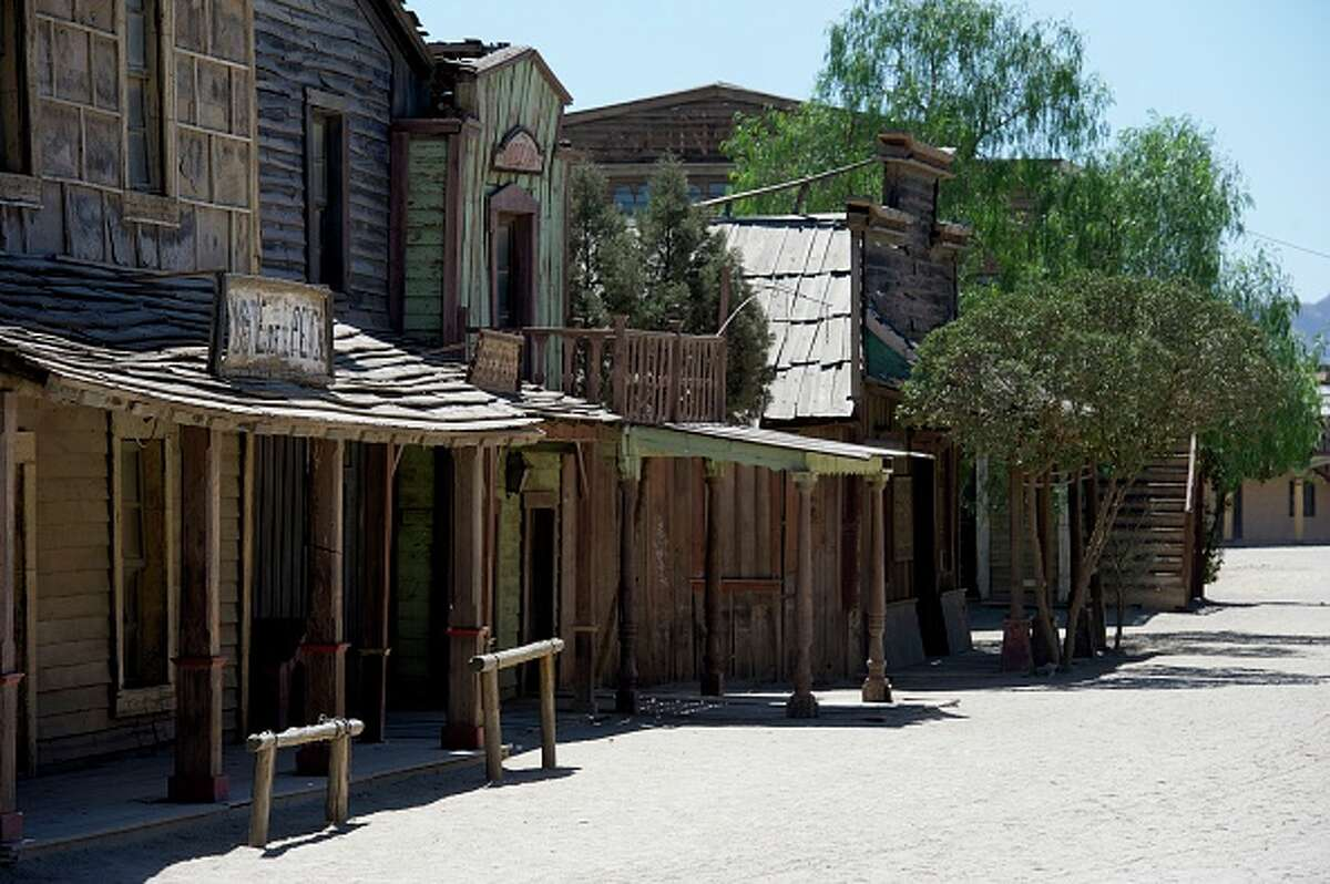 ALMERIA, SPAIN - AUGUST 20: A general view of the film set at Fort Bravo/Texas Hollywood on August 20, 2015 in Almeria, Spain. Fort Bravo Texas Hollywood, built in the 1960s in Almeria, Spain, is a western style set for films, which is also used for tourist tours. Originally used by film director Sergio Leone for 'A Fistful of Dollars', 'For a Few Price' and 'The Good, the Bad and the Ugly', which lead to the Spaghetti Western genre, today it is still used to shoot many different types of films. (Photo by Juan Naharro Gimenez/Getty Images)