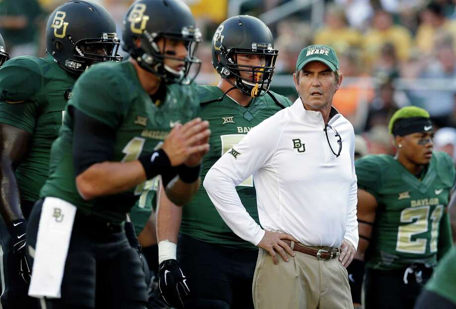 In this Aug. 31, 2014, file photo, Baylor head coach Art Briles watches his team warm up before a game against SMU in Waco. Photo: LM Otero /Associated Press / AP