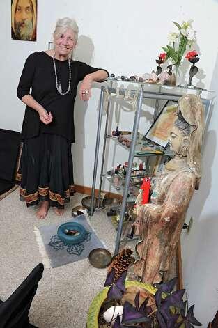 Ma Satprem Yeshe Dolma of Ikiera Divine Holistic Healing Arts is seen with her healing crystals in her home on Wednesday, Aug. 12, 2015 in Clifton Park, N.Y. (Lori Van Buren / Times Union) Photo: Lori Van Buren / 00032967A