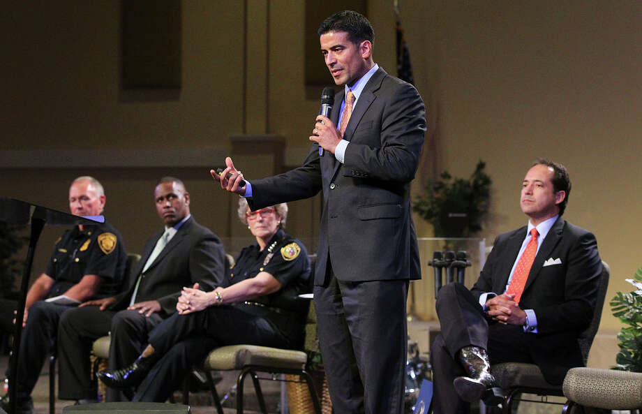 This file photo shows District Attorney Nico LaHood speaking at a forum on Civil Rights and Community Policing last month. He would be doing himself and the county a favor by seeking a special prosecutor to handle the recent deputies shooting case. Photo: Tom Reel /San Antonio Express-News