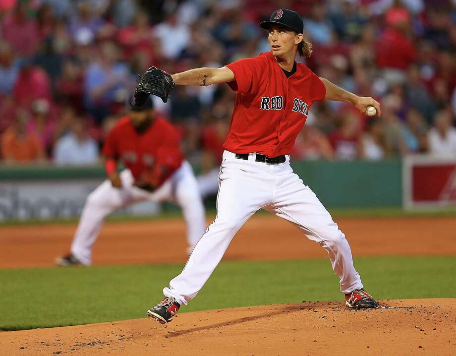 BOSTON, MA - AUGUST 21: Henry Owens #60 of the Boston Red Sox throws against the Kansas City Royals  in the first inning on August 21, 2015 in Boston, Massachusetts.  (Photo by Jim Rogash/Getty Images) ORG XMIT: 538591305 Photo: Jim Rogash / 2015 Getty Images
