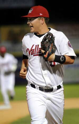 ValleyCats' second baseman Brooks Marlow during their baseball game against the Renegades on Friday, Aug. 21, 2015, at Joe Bruno Stadium in Troy, N.Y. (Cindy Schultz / Times Union) Photo: Cindy Schultz / 00033059A