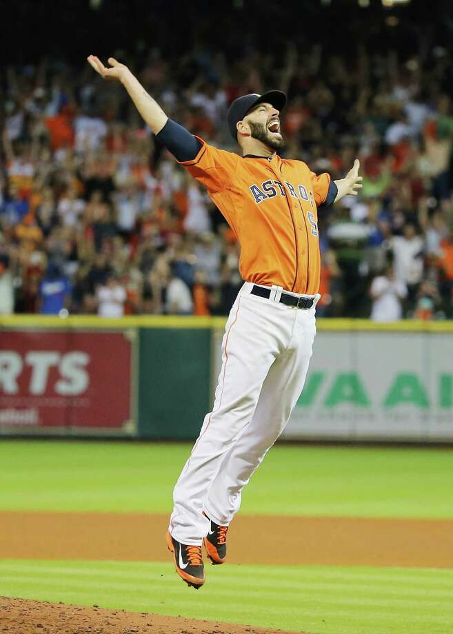 HOUSTON, TX - AUGUST 21:  Mike Fiers #54 of the Houston Astros celebrates after tossing a no-hitter en route to the Astros defeating the Los Angeles Dodgers 3-0 at Minute Maid Park on August 21, 2015 in Houston, Texas.  (Photo by Scott Halleran/Getty Images) ORG XMIT: 538591311 Photo: Scott Halleran / 2015 Getty Images