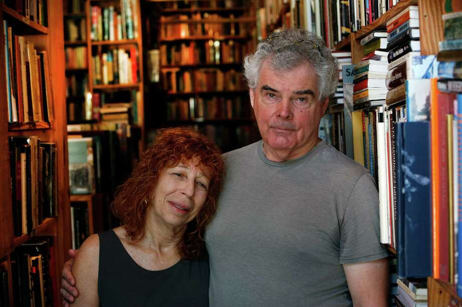 John Dillman and his wife, Dee, of Kaboom Books, settled in Houston in the wake of Hurricane Katrina. Photo: Steve Gonzales, Houston Chronicle / © 2015 Houston Chronicle