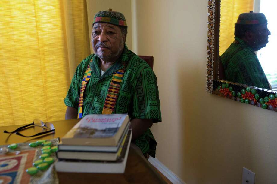 Mtangulizi Sanyika, a retired professor from Texas Southern University, is a New Orleanian who established himself in Houston after Hurricane Katrina displaced him and his family.  Photo: Marie D. De Jesus, Houston Chronicle / © 2015 Houston Chronicle
