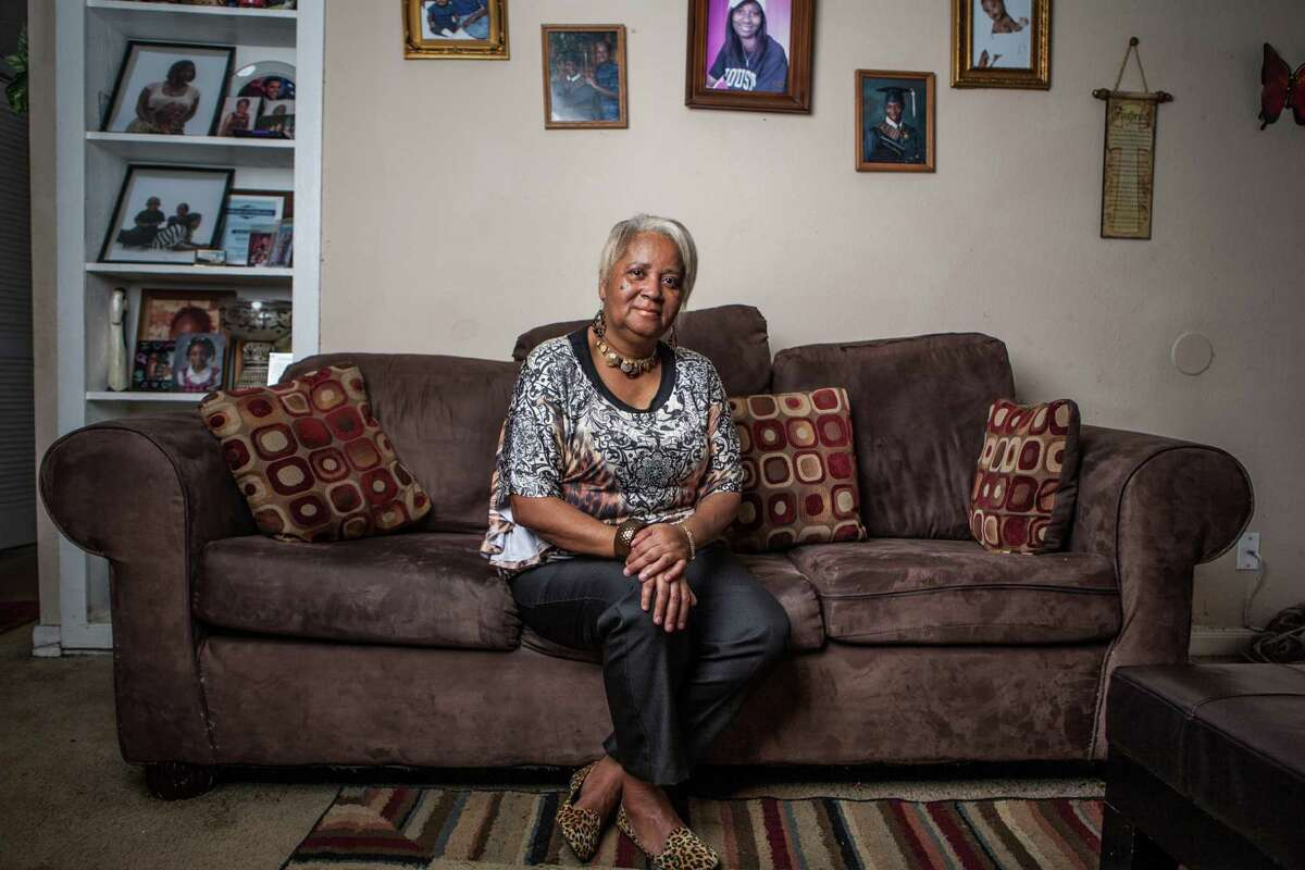 Renita Jackson moved to Houston from New Orleans after being trapped in her home in neck-deep water for five days during Hurricane Katrina.