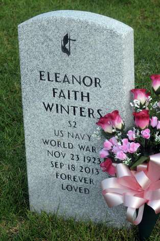 The grave of Eleanor Winters , a WWII era Navy veteran, at Saratoga National Cemetery on Tuesday Aug. 18, 2015 in Schuylerville, N.Y.  (Michael P. Farrell/Times Union) Photo: Michael P. Farrell / 00033013A