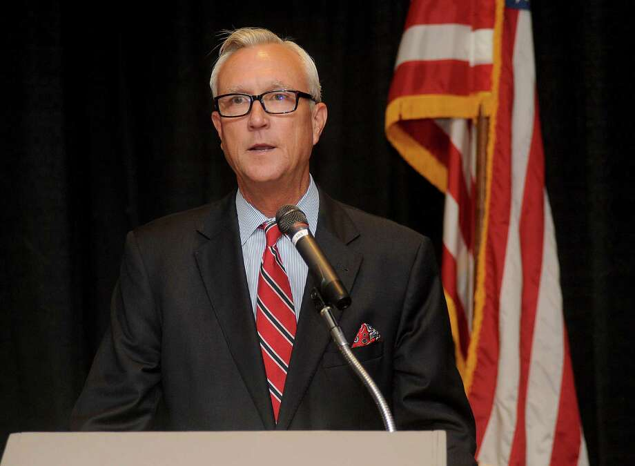 Mayoral candidate Chris Bell speaks at the Greater Heights Area Chamber of Commerce luncheon at the Sheraton Houston Brookhollow Wednesday August 12, 2015.(Dave Rossman photo) Photo: Dave Rossman, Freelance / Freelalnce
