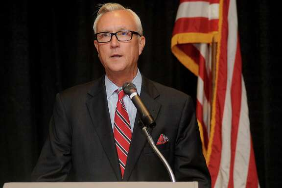Mayoral candidate Chris Bell speaks at the Greater Heights Area Chamber of Commerce luncheon at the Sheraton Houston Brookhollow Wednesday August 12, 2015.(Dave Rossman photo)