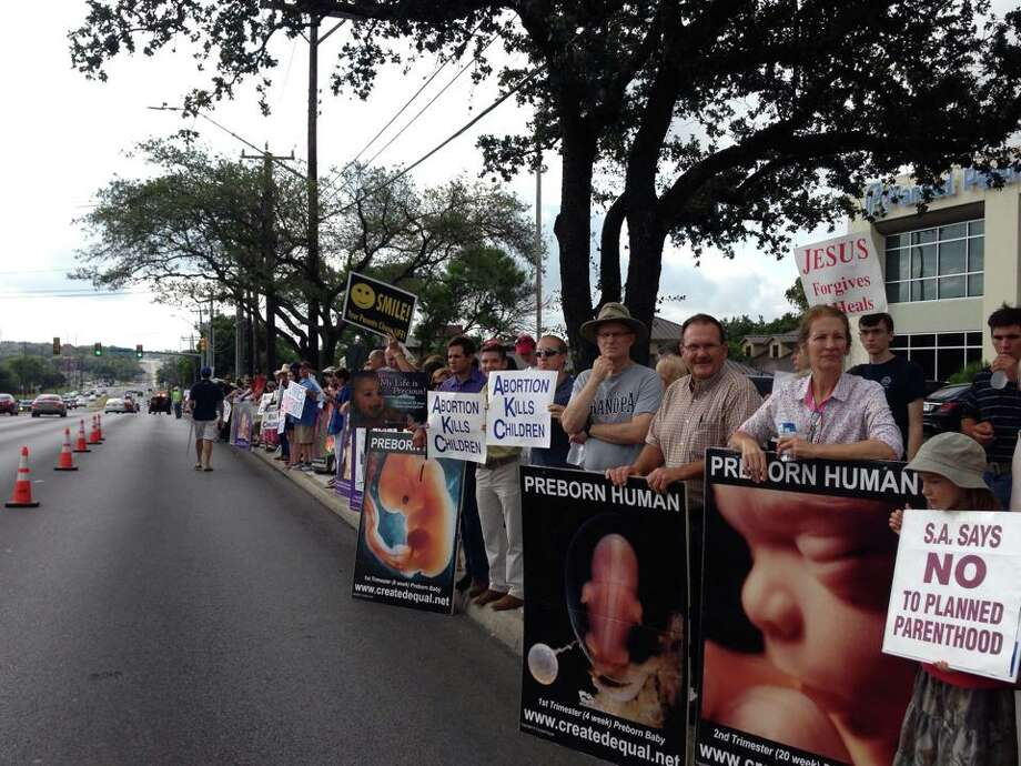 Area residents take part in national day of protest against Planned Parenthood. Photo: Courtesy Love Of Truth Ministries
