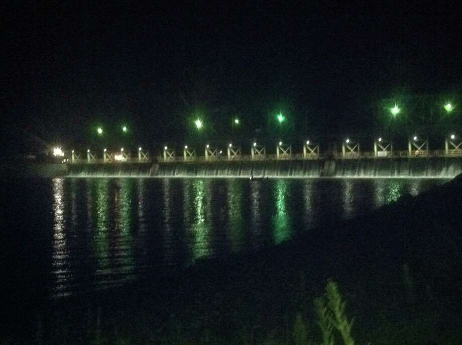 Search scene Saturday night near Lock 8 in Glenville (Larry Rulison/Times Union)
