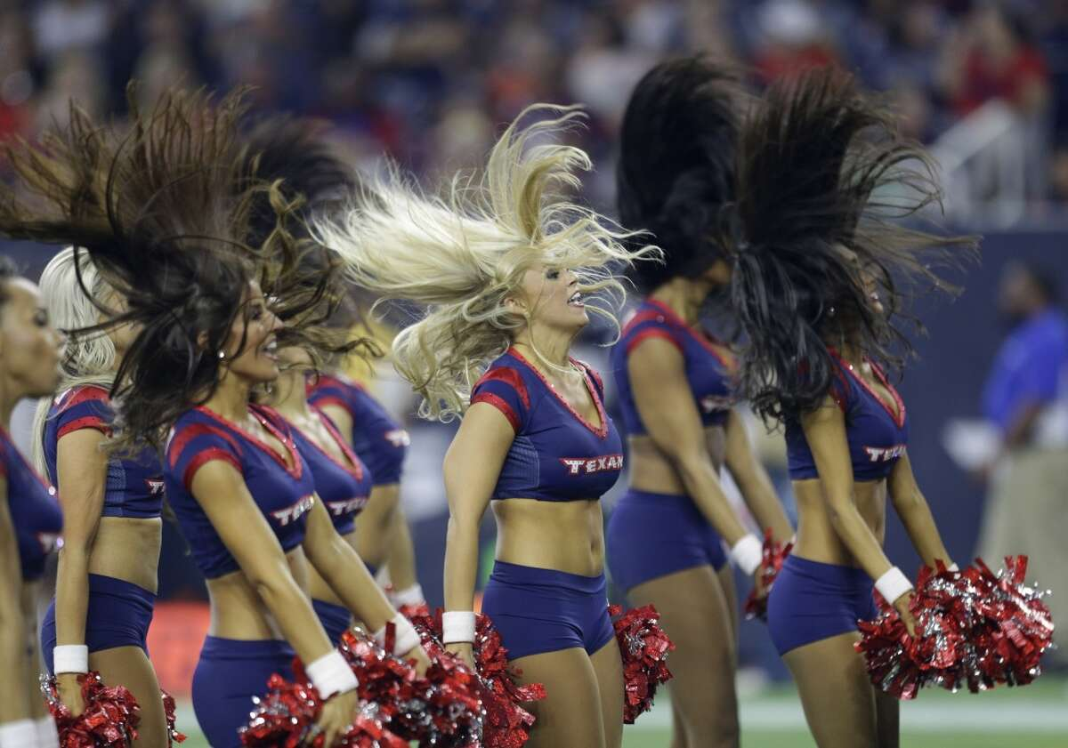 Houston Texans cheerleaders 170,00 followers They're enthusiastic, peppy and super sweet. Also, swimsuits. Go team!