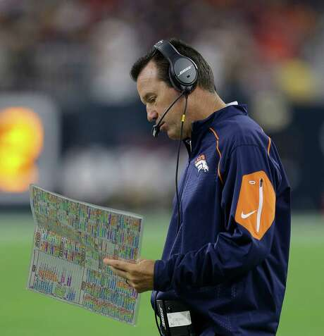 In his first trip back to Houston as an opposing head coach, Gary Kubiak left with a win. Photo: Brett Coomer, Staff / © 2015  Houston Chronicle