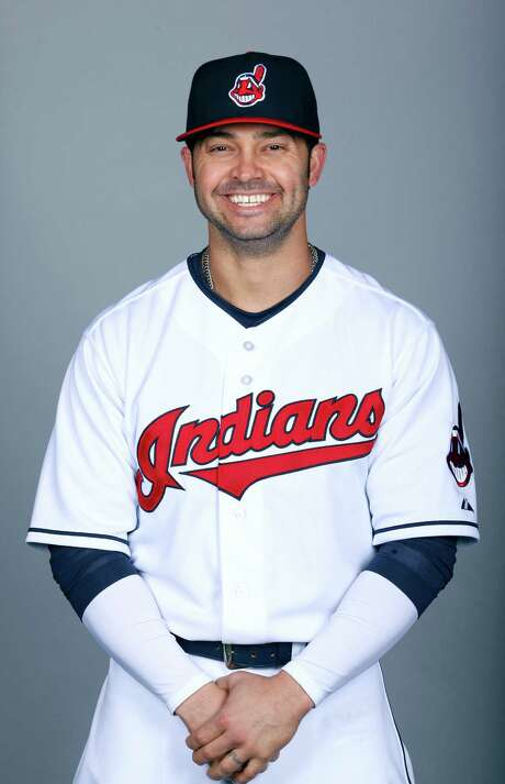 Nick Swisher  Atlanta Braves    2015 MLB photo  GOODYEAR, AZ - FEBRUARY 26:  Nick Swisher #33 of the Cleveland Indians poses during Photo Day on Thursday, February 26, 2014 at Goodyear Ballpark in Goodyear, Arizona.  (Photo by Jason Wise/MLB Photos via Getty Images) *** Local Caption *** Nick Swisher Photo: NA, Stringer / ONLINE_YES