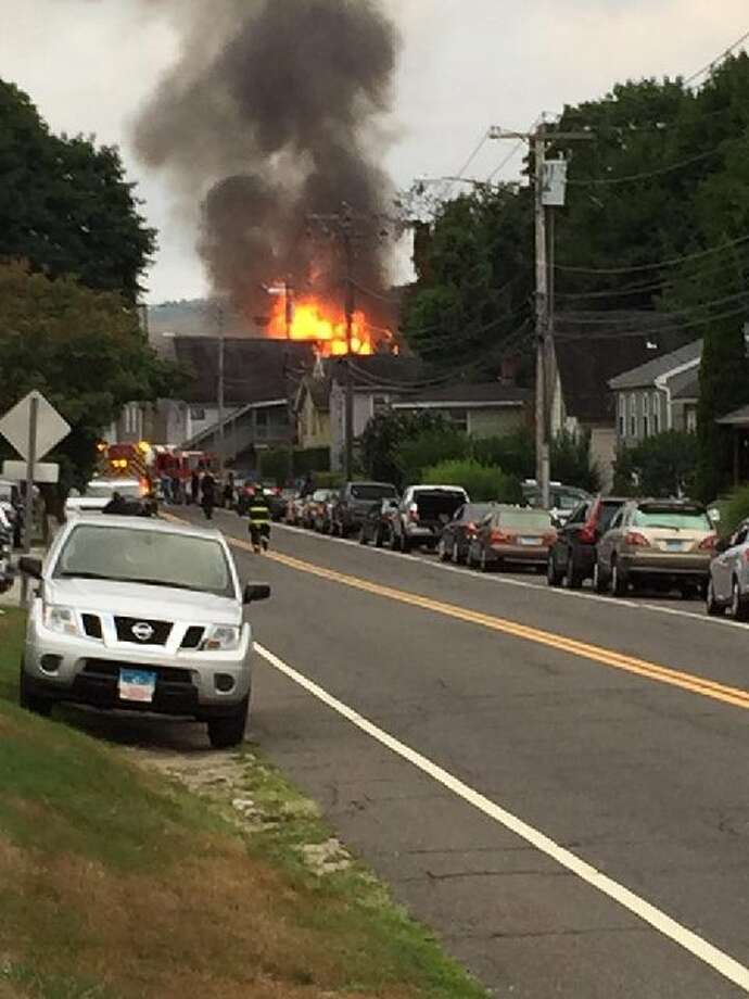 Derby fire on August 23, 2015 Photo: CT News Alert / Connecticut Post Contributed