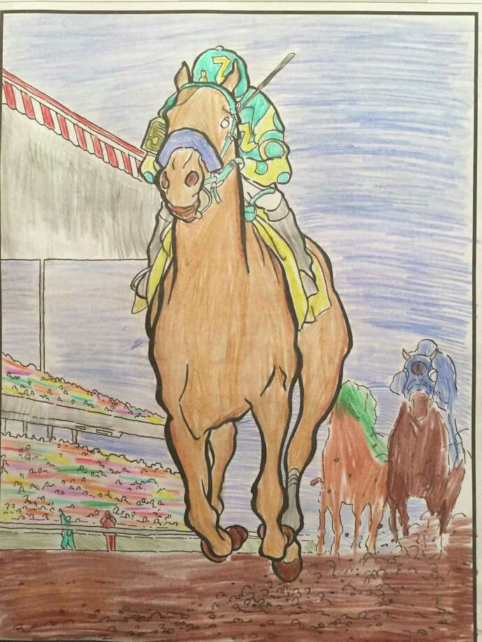 Caroline Sablich, 11, of Saratoga Springs is the winner in our American Pharoah coloring contest.