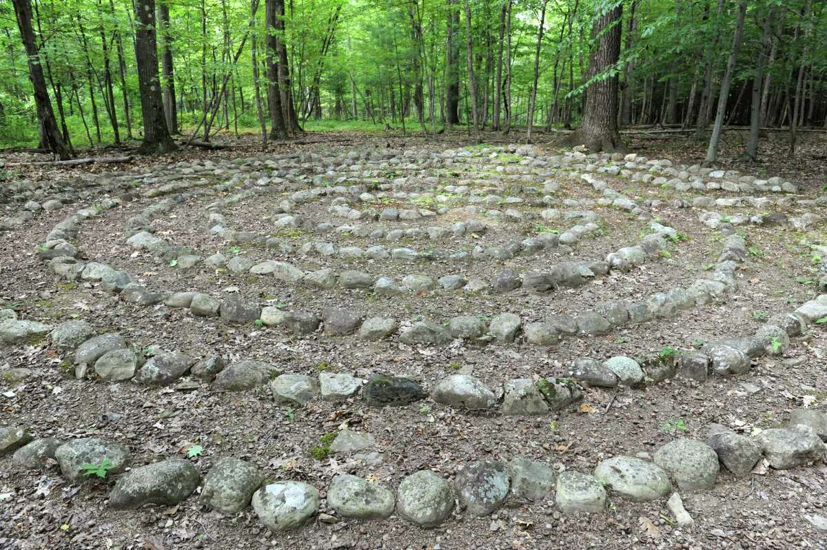 Labyrinth on Thom Breitenbach's property where he's made a castle out of local stone which is also a wedding venue on Monday, Aug. 17, 2015 in Altamont, N.Y. He is also an artist and plans to leave the castle and his paintings as a museum when he dies. (Lori Van Buren / Times Union)