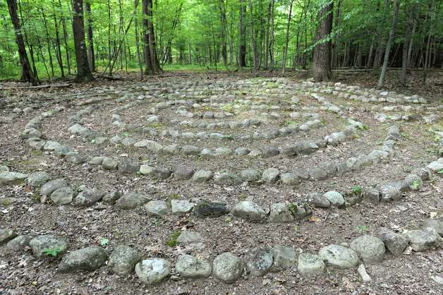 Labyrinth on Thom Breitenbach's property where he's made a castle out of local stone which is also a wedding venue on Monday, Aug. 17, 2015 in Altamont, N.Y. He is also an artist and plans to leave the castle and his paintings as a museum when he dies. (Lori Van Buren / Times Union) Photo: Lori Van Buren / 00032981A
