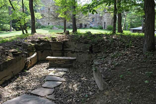 Thom Breitenbach's property where he's made a castle out of local stone which is also a wedding venue on Monday, Aug. 17, 2015 in Altamont, N.Y. He is also an artist and plans to leave the castle and his paintings as a museum when he dies. (Lori Van Buren / Times Union) Photo: Lori Van Buren / 00032981A