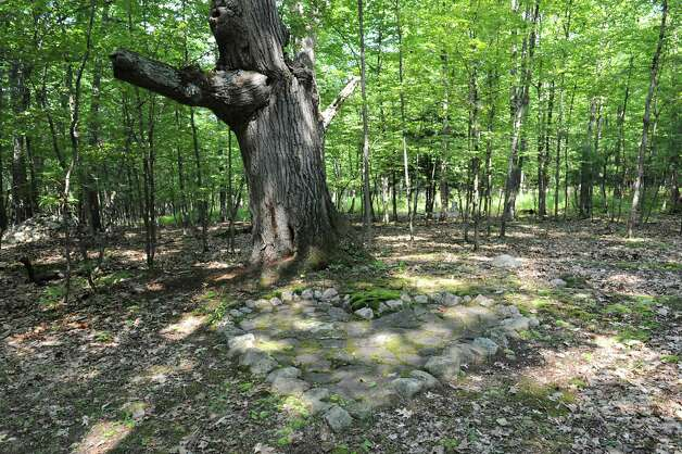 Place where Thom Breitenbach and his wife were married on their property where he's made a castle out of local stone which is also a wedding venue on Monday, Aug. 17, 2015 in Altamont, N.Y. He is also an artist and plans to leave the castle and his paintings as a museum when he dies. (Lori Van Buren / Times Union) Photo: Lori Van Buren / 00032981A