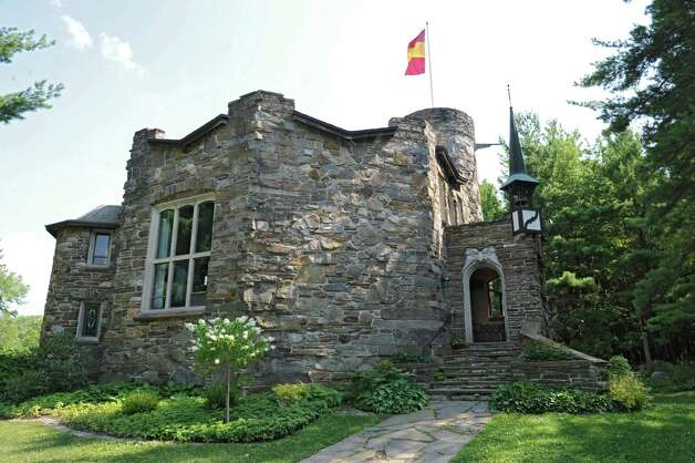 Thom Breitenbach's castle he's made out of local stone which is also a wedding venue on Monday, Aug. 17, 2015 in Altamont, N.Y. He is also an artist and plans to leave the castle and his paintings as a museum when he dies. (Lori Van Buren / Times Union) Photo: Lori Van Buren / 00032981A