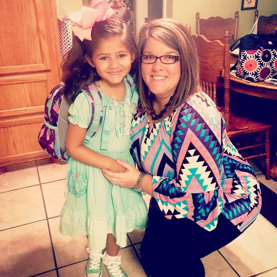 Addison, kindergarten and Paige Tobias, third grade teacher. Ridgewood Elementary School, Port Neches. Photo: Mike Tobias