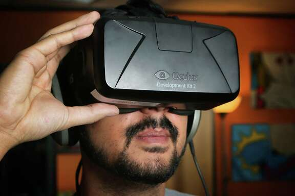 In 2050, virtual reality headsets like this will be obsolete. Instead we'll be checking into virtual offices with smart glasses more like Google Glass.