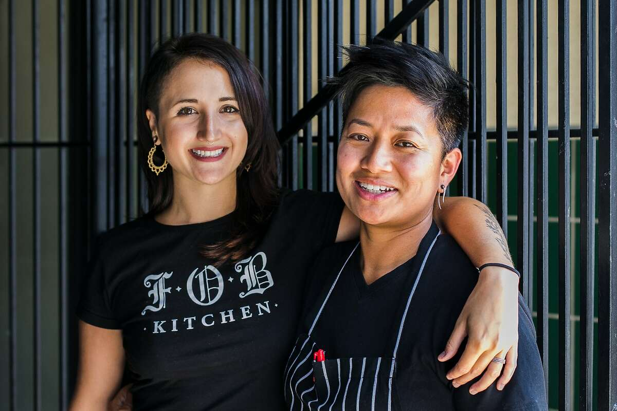 FOB Kitchen's owners Janice and Brandi Dulce outside of Cease and Desist on Saturday August 22.