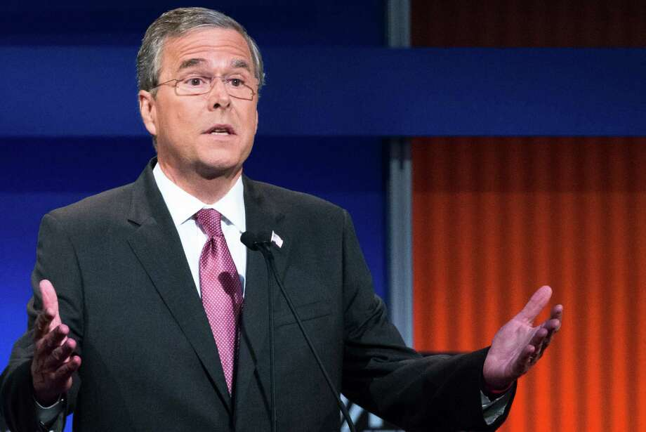 Republican presidential candidate former Florida Gov. Jeb Bush during the first Republican presidential debate at the Quicken Loans Arena Thursday, Aug. 6, 2015, in Cleveland. (AP Photo/John Minchillo) Photo: John Minchillo, STF / Associated Press / AP