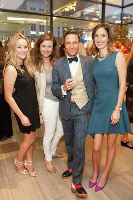 Megan Hines, Karen Marone, Ken Fulk and Nora Lee at the Ken Fulk Collection for Pottery Barn Arrival Party on August 12, 2015.