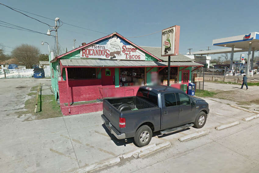 Rolando's Super Tacos: 919 W. Hildebrand, San Antonio, Texas 78201Date: 07/20/2016 Score: 56Highlights: Roaches seen in establishment, food not protected from cross contamination (raw foods stored over ready-to-eat foods in all coolers), employees did not wash their hands properly, toxic chemicals stored near food and wares, no Certified Food Manager (CFM) present at time of inspection
