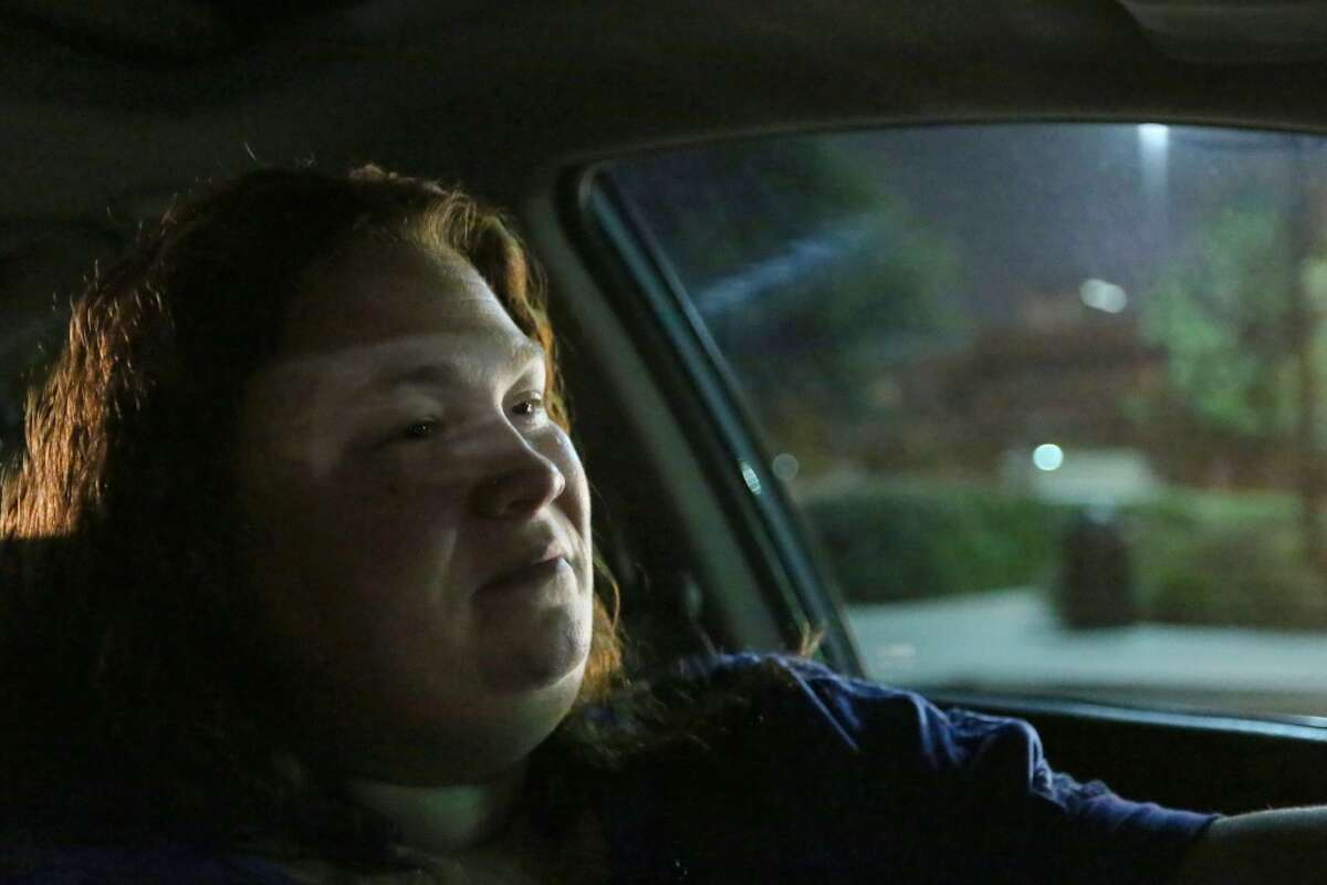 Shirley Fuller drives for Uber Friday, Aug. 7, 2015, in Houston. Fuller was laid off from her job at a valve manufacturing company March 25. She is one of a growing number of people who struggle to earn enough money as low oil prices push energy companies to lay off workers. ( Jon Shapley / Houston Chronicle )