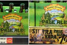 Bottled beer: A six-pack of Sierra Nevada sets you back $8.49 at Whole Foods. The same beer costs $7.99 at Trader Joe's.
