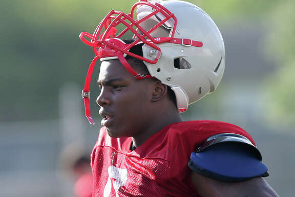 Judson's Alton Robinson during a practice session at Rutledge Stadium on Aug. 7, 2015.
