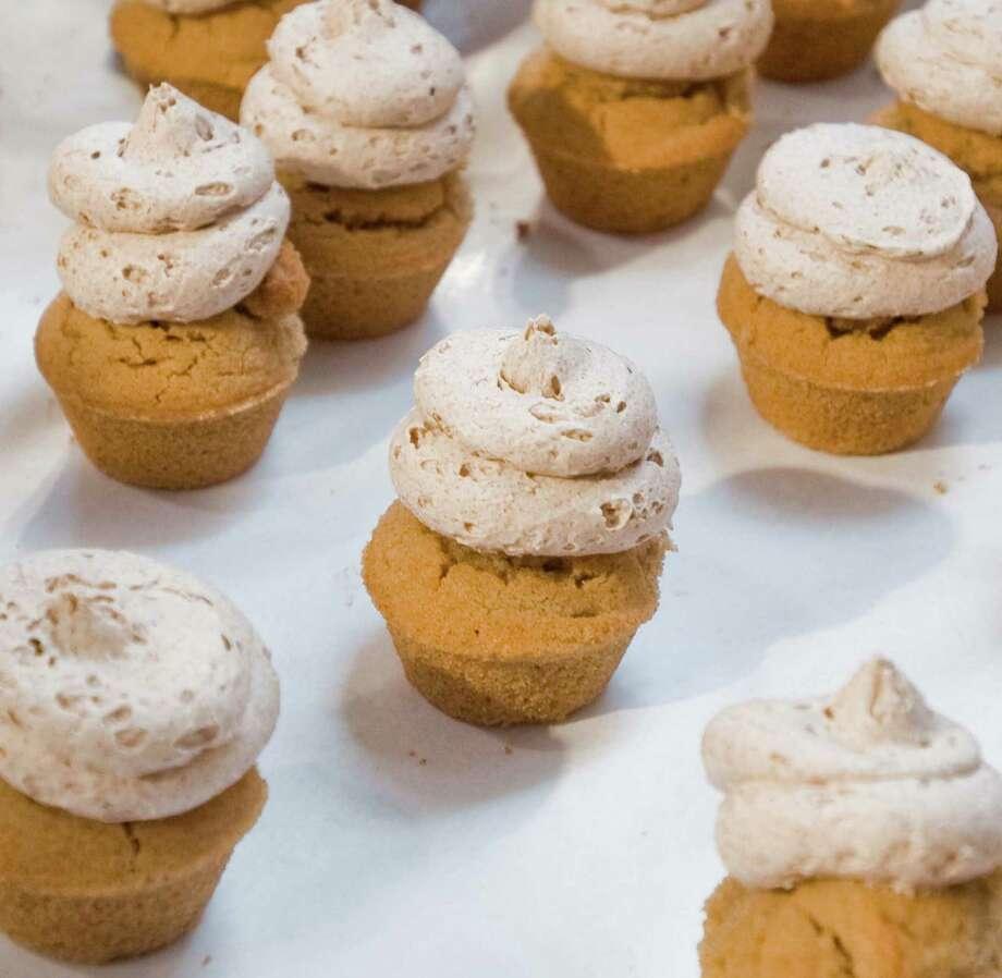 The Cinnamon Roll Mini Cupcakes. Photo: Scott Mullin / For The / The News-Times Freelance