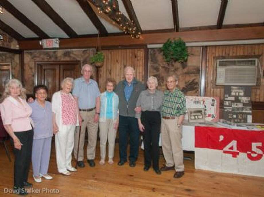 Members of the Chatham High School Class of 1945 celebrated their 70th reunion recently. From left, Dotty Williams Flood, Mary Cozzolino, Doris DeVane Witthoft, William MacFarlane, Fran Gustafson Mesick, Red Broderick, Jane Simmons Lappies and Larry Patlen.