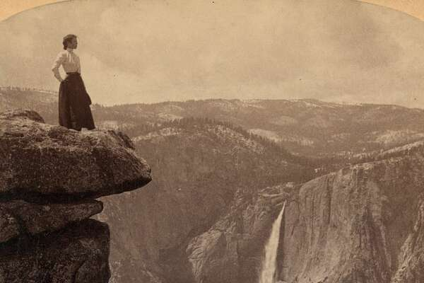 A historic photo of Yosemite from the Library of Congress.