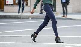 Leggings are sometimes worn as street wear.