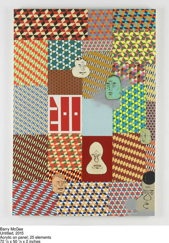 An untitled 2015 painting by Barry McGee, a hint of what's to come in his November installation at Ratio 3.  Courtesy of Tim Caro Bruce, Romer Young Gallery, San Francisco, and Galeria Rusz, Poland Photo: Courtesy Of Tim Caro Bruce, Rome