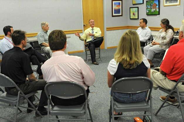 Cosimo Tangorra Jr., new Niskayuna superintendent of schools, meets community members at the Niskayuna Town Library on Friday, June 19, 2015 in Niskayuna, N.Y.  (Lori Van Buren / Times Union archive) Photo: Lori Van Buren / 00032344A